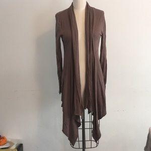 Drape front cardigan